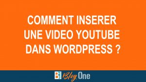 Integrer, insérer, afficher video Youtube Wordpress