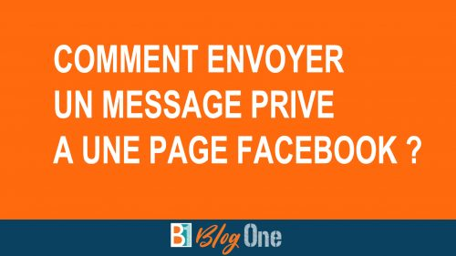 Envoyer message prive page facebook