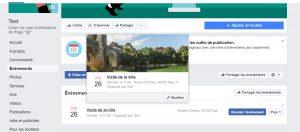 Page Facebook : Comment ajouter une carte à l'événement de votre page facebook ?