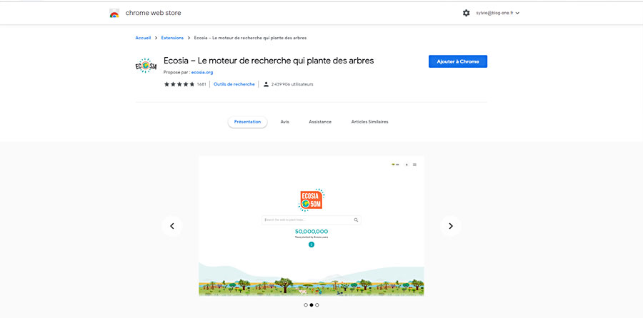 Ecosia | moteur de recherche ecosia | SEO Référencer sur Ecosia | Blog-One